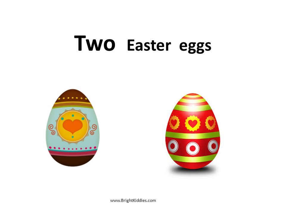 3 Two Easter Eggs BrightKiddies