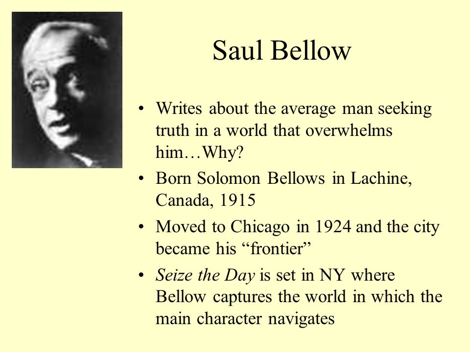 The bellow pdf seize day saul