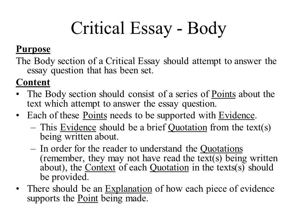 How To Start A Proposal Essay  Critical Essay  Body Purpose  Essay Paper Writing Services also Pay To Do Online Class A Hanging  Critical Essay A Hanging  Essay Question Essay  Narrative Essay Thesis Statement Examples