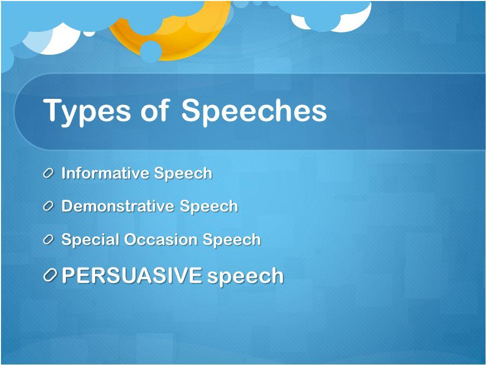 Speeches Unwraveled Types Of Speeches Informative Speech