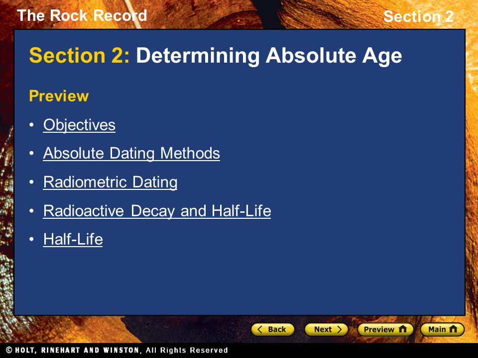 Radiometric age dating methods in science