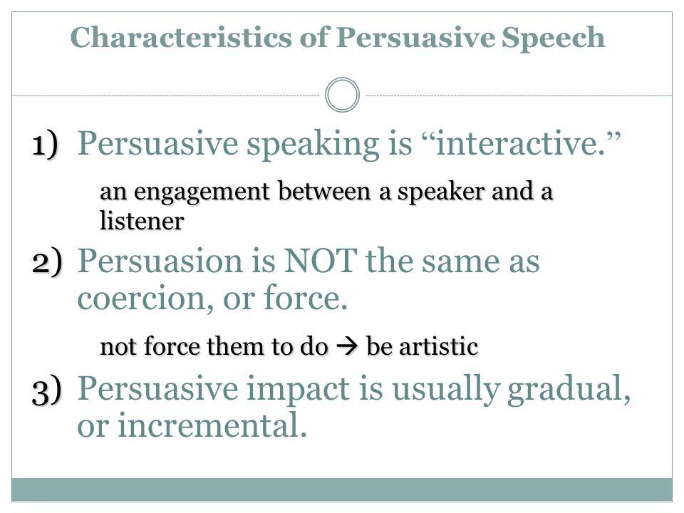 characteristics of argumentative speech