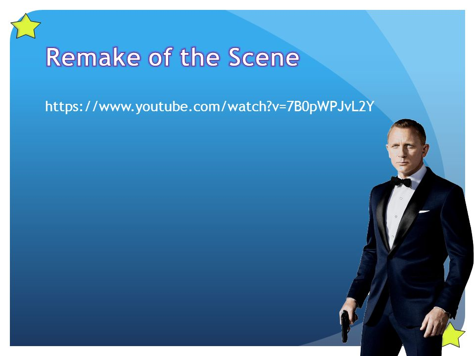 Remaking a scene!  Sam Mendes directed the movie Skyfall and