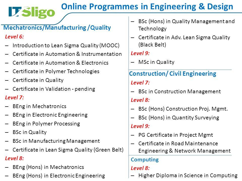 Precision Engineering & Manufacturing Developments in IT Sligo Úna ...