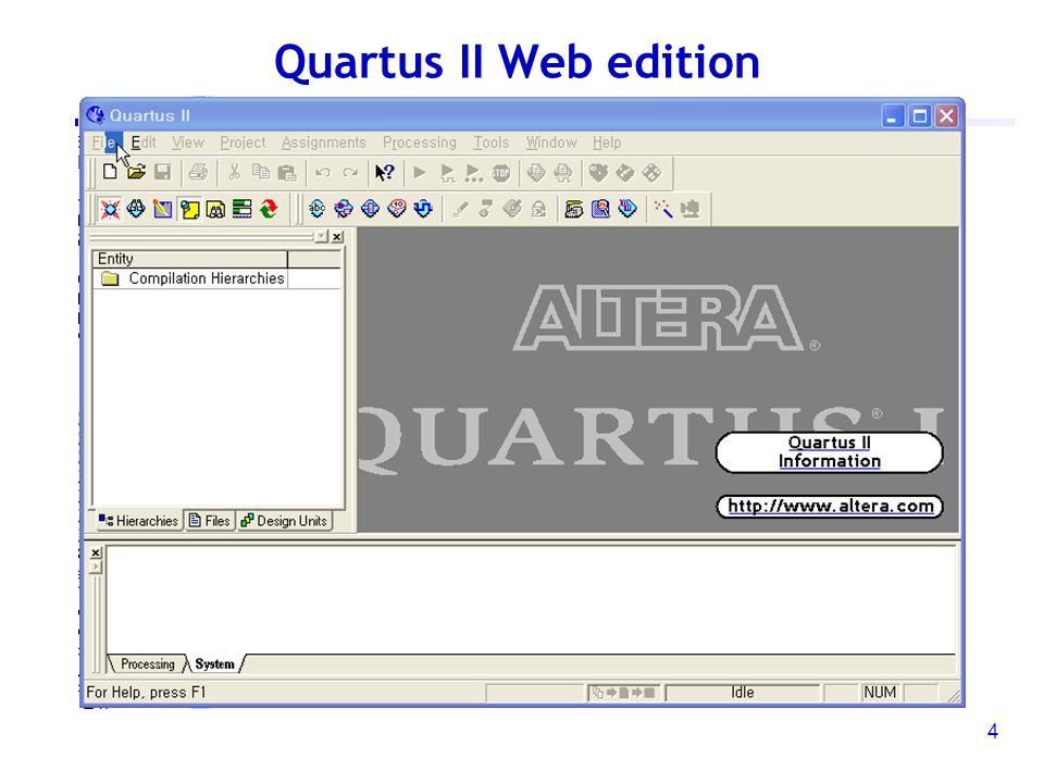 개발환경의 이해 및 실습 (Quartus II web edition)  2 개발환경의 이해