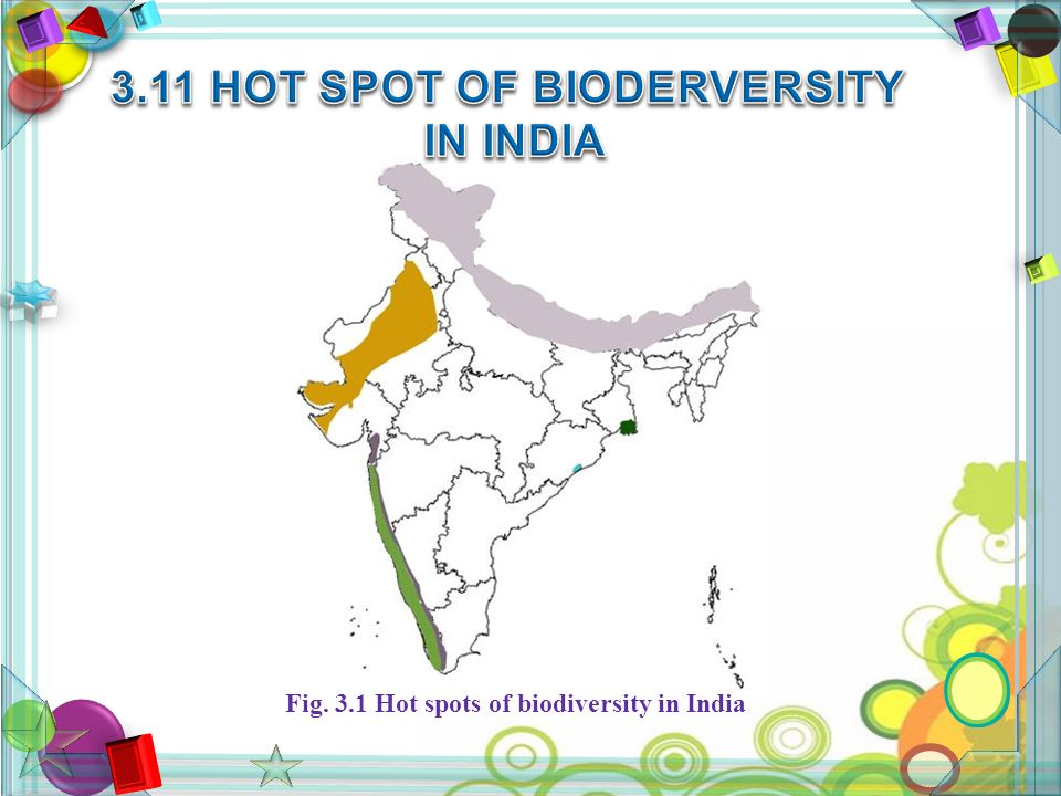 Fig. 3.1 Hot spots of biodiversity in India