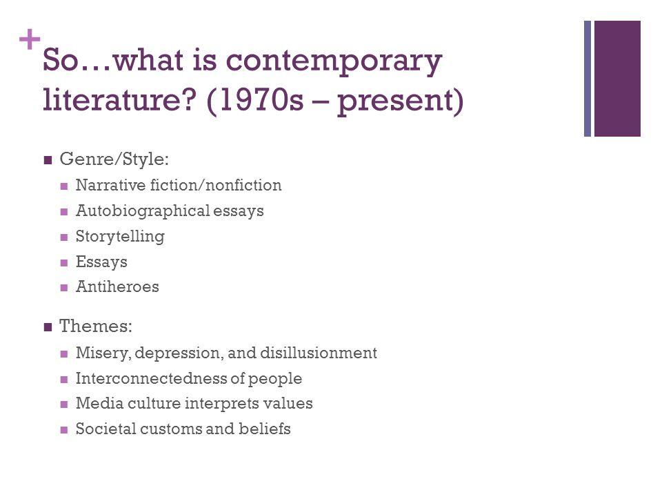 Contemporary Literature 1950 – Present. + American Literature ...