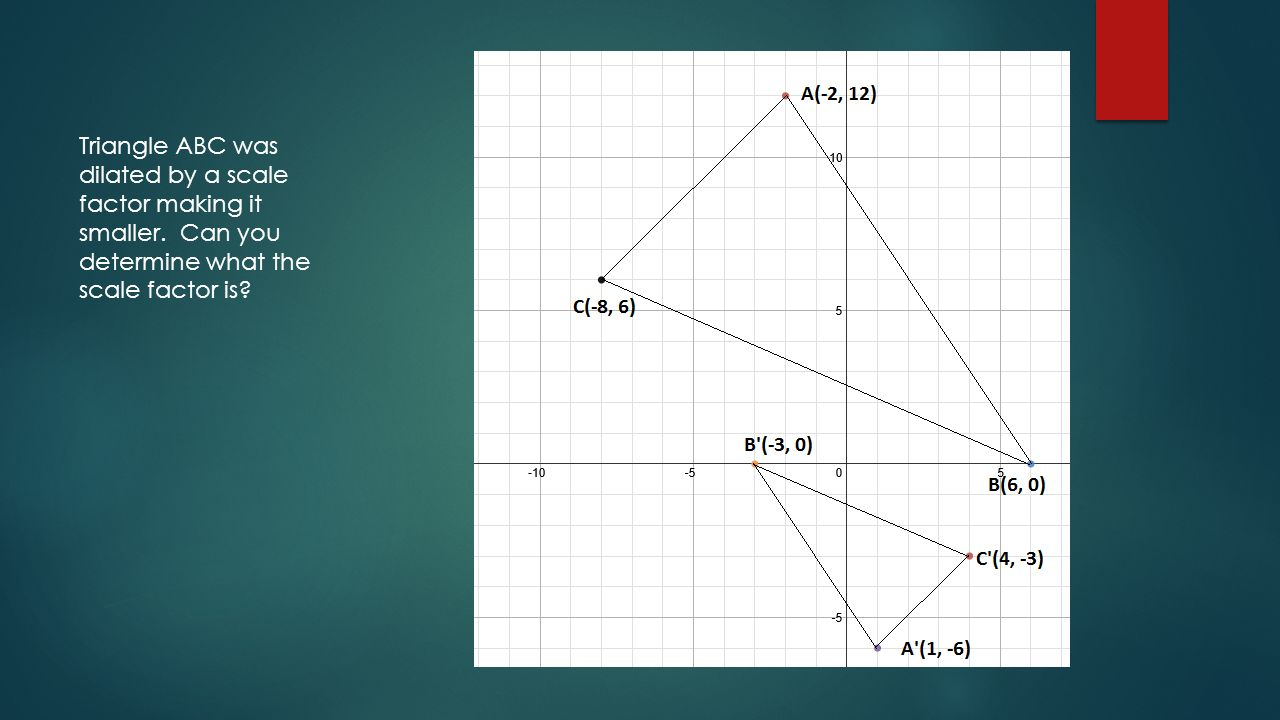 Dilation OF A POLYGON. A TRANSFORMATION IN WHICH A POLYGON MAINTAINS ...
