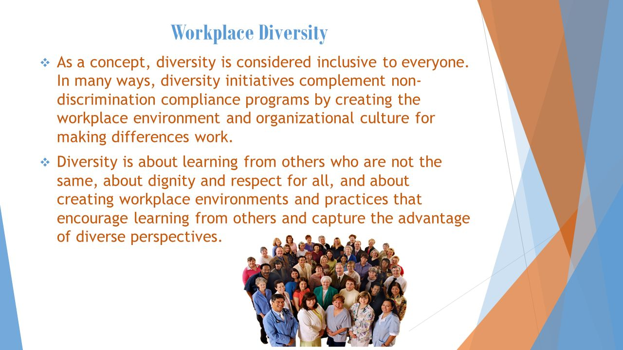 workplace diversity.  definition: workplace diversity is a people
