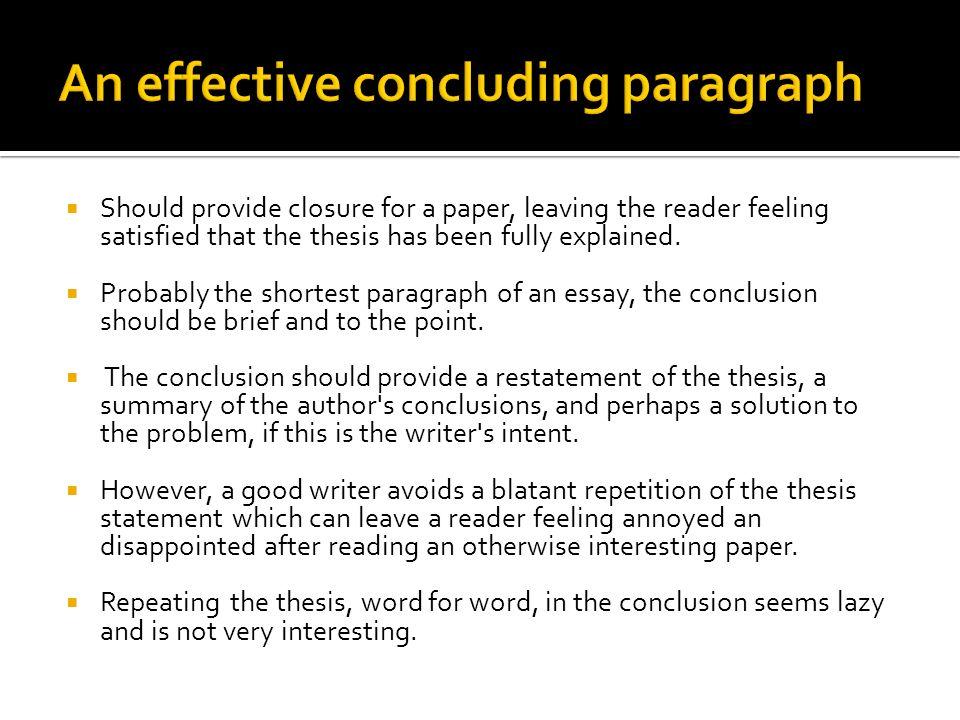 conclusion paragraph research paper
