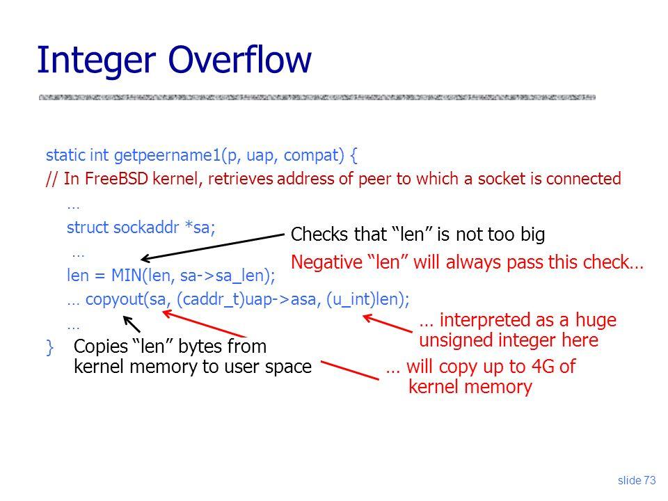 Slide 1 Vitaly Shmatikov CS 361S Buffer Overflow and Other