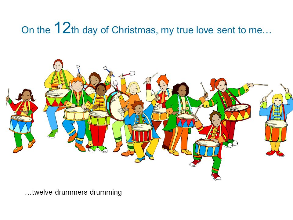 On The 12th Day Of Christmas.The Twelve Days Of Christmas On The 1 St Day Of Christmas