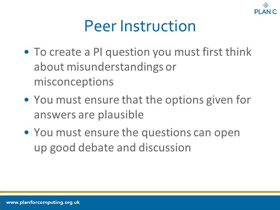 Encouraging Explanations And Use Of Key Language Peer Instruction