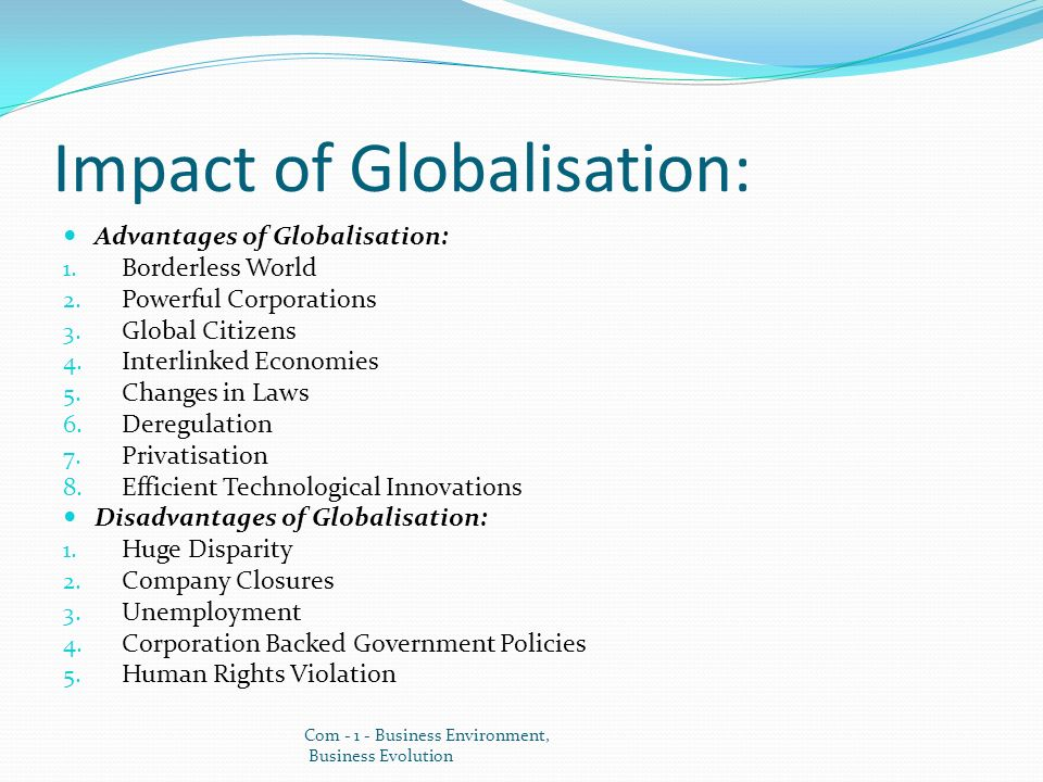 benefits and disadvantages of economic globalization