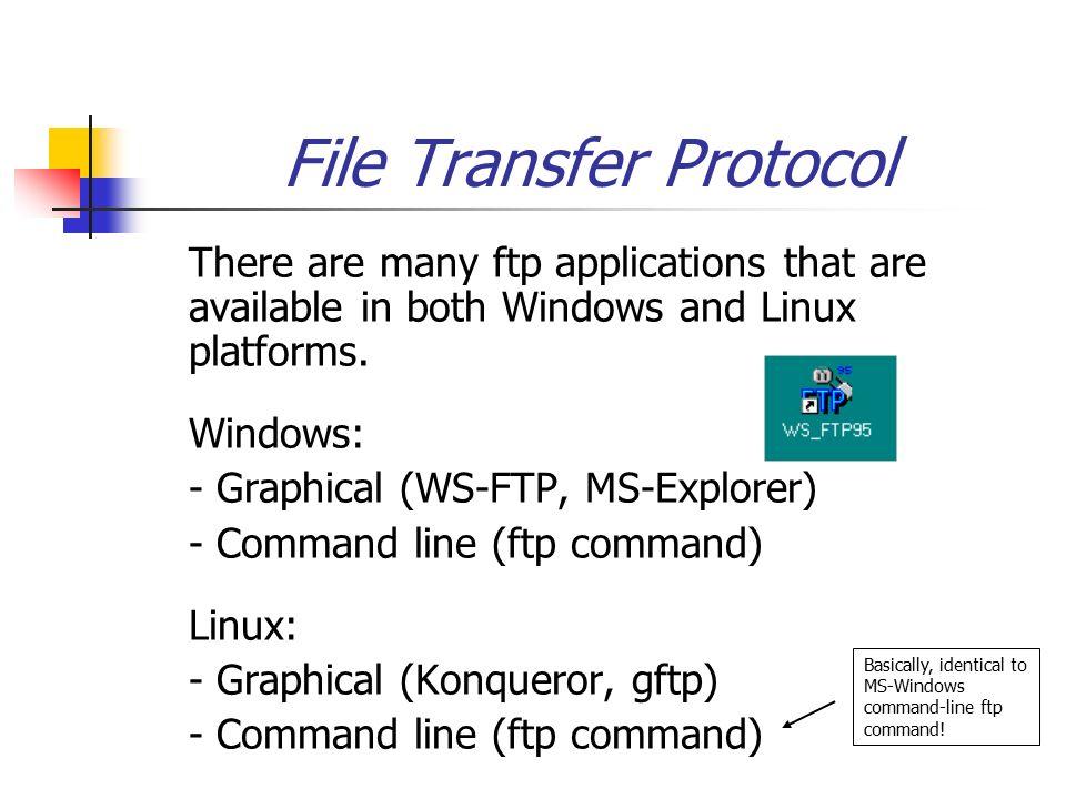 BIF703 FTP (File Transfer Protocol) Utility vi editor Utility  - ppt