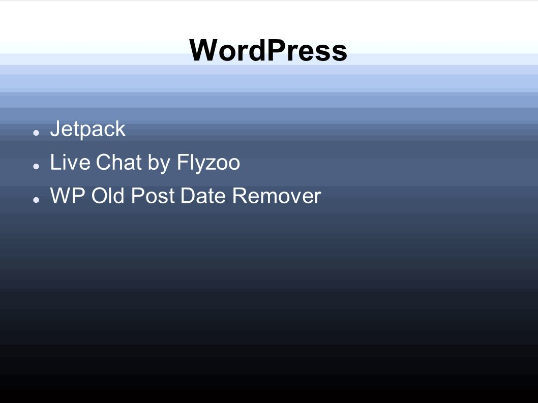 Comparing Apps/Plug-ins/ Extensions Megan  WordPress Jetpack