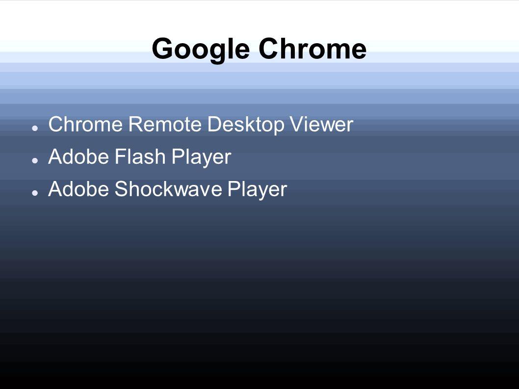 adobe shockwave google chrome
