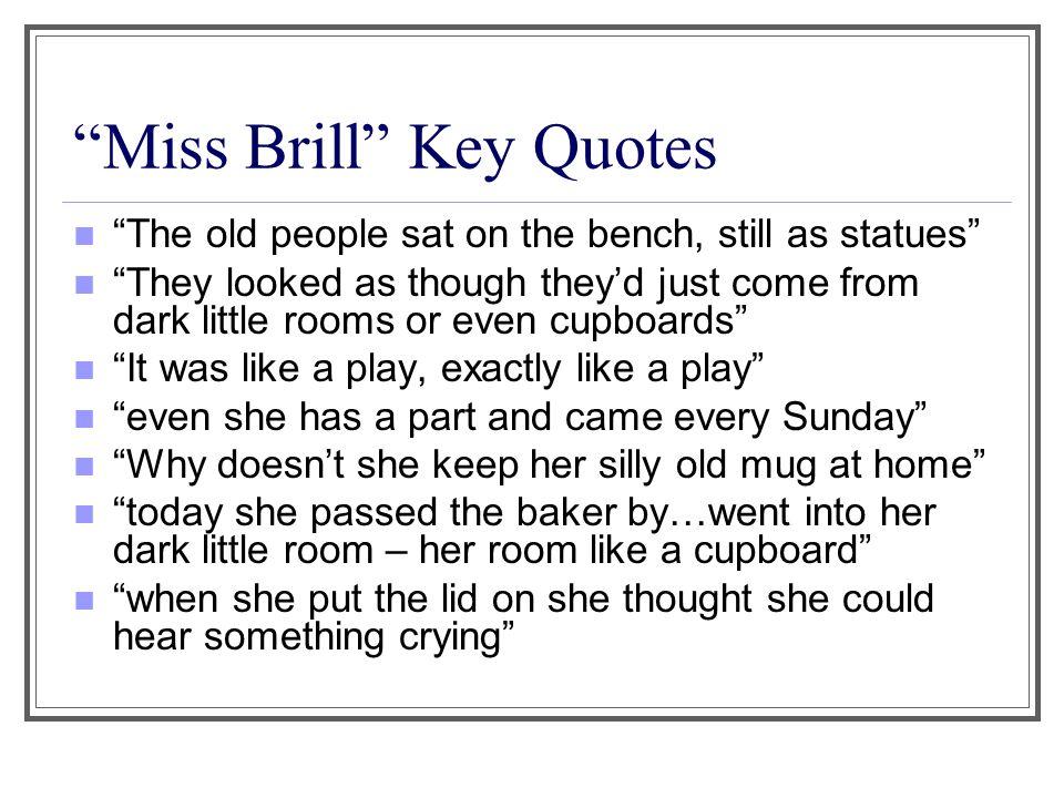 miss brill symbolism analysis