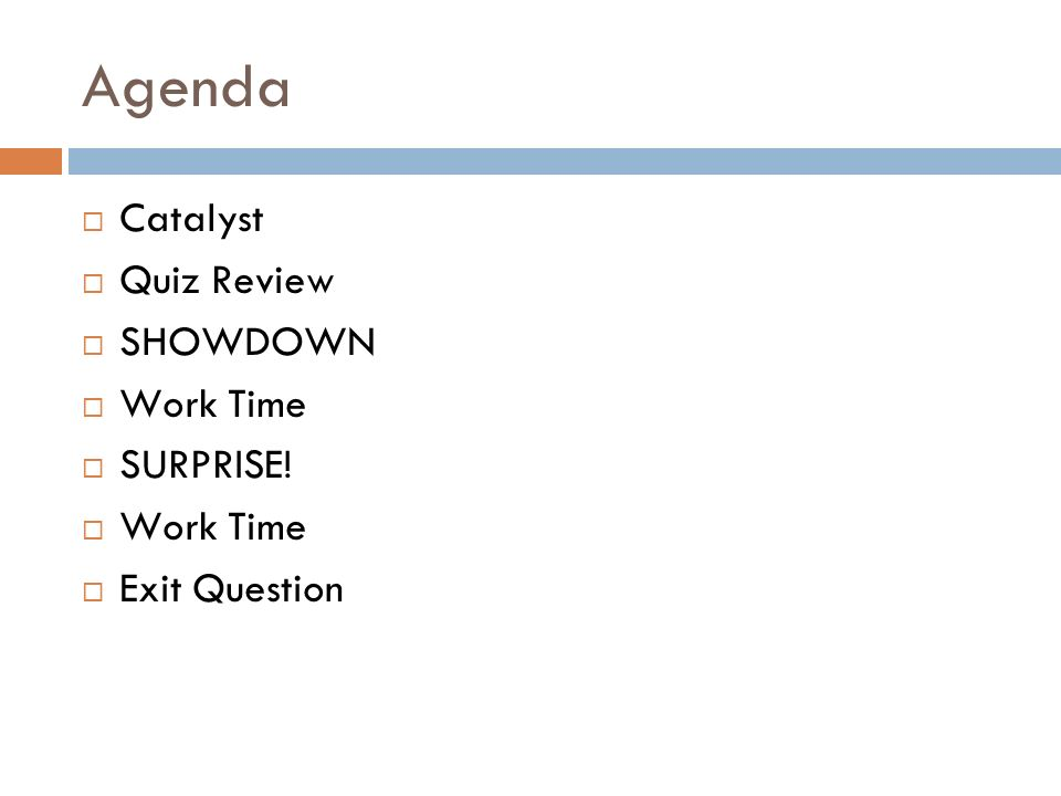 Review Day Objective Swbat Ace Unit Test Tomorrow