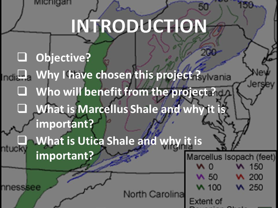 Interactive Web Map of Marcellus and Utica Shale Showing Thickness