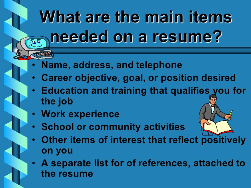 Resumes Writing It! Preparing a Resume A resume is a bare bones ...