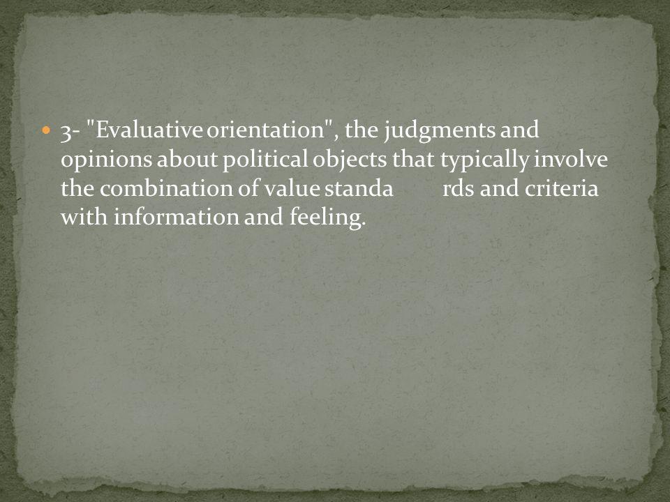 evaluative orientation