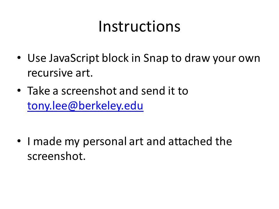 Recursive Art Snap! Below the Line DeCal  Week 5 Assignment
