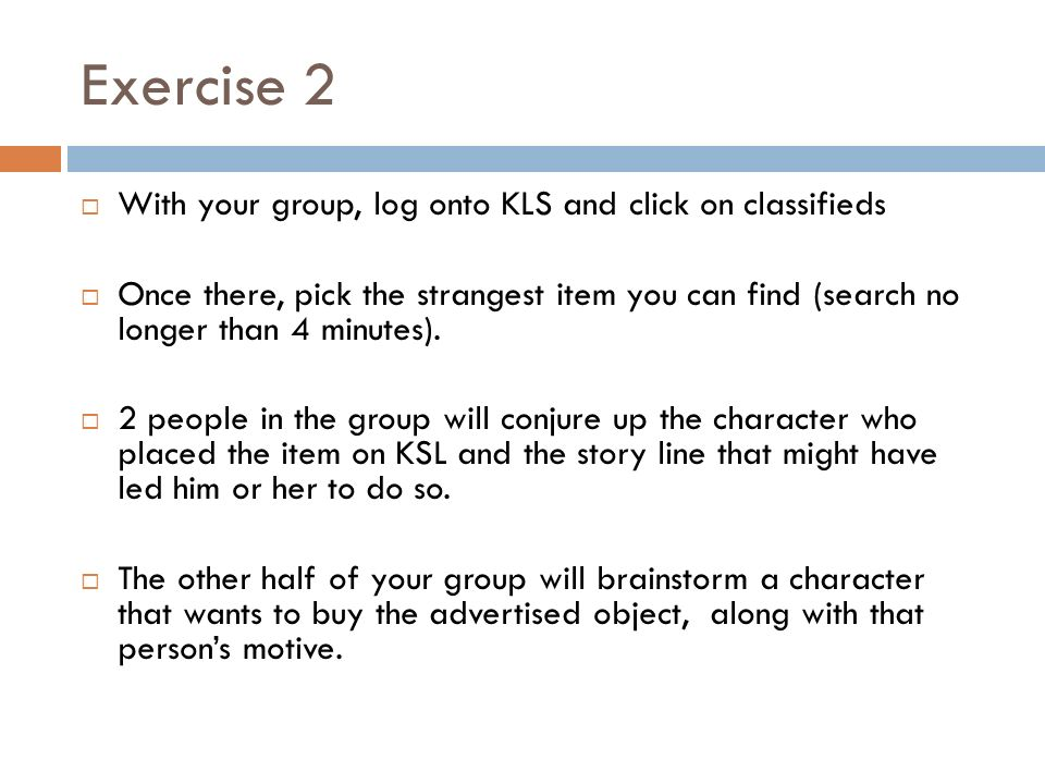 CREATIVE WRITING Creating a character  Starter  Take a few minutes