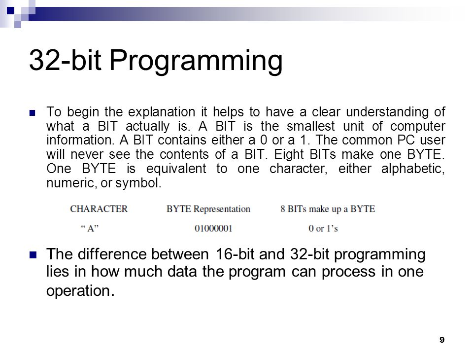 9 32 Bit Programming To Begin The Explanation It Helps Have A Clear Understanding