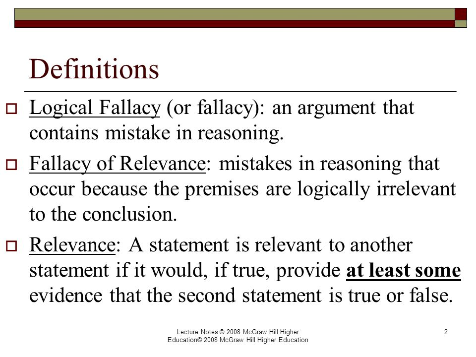 fallacies in critical thinking