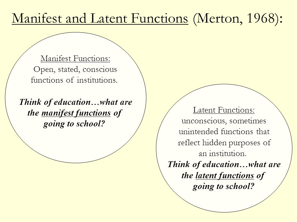 manifest and latent functions