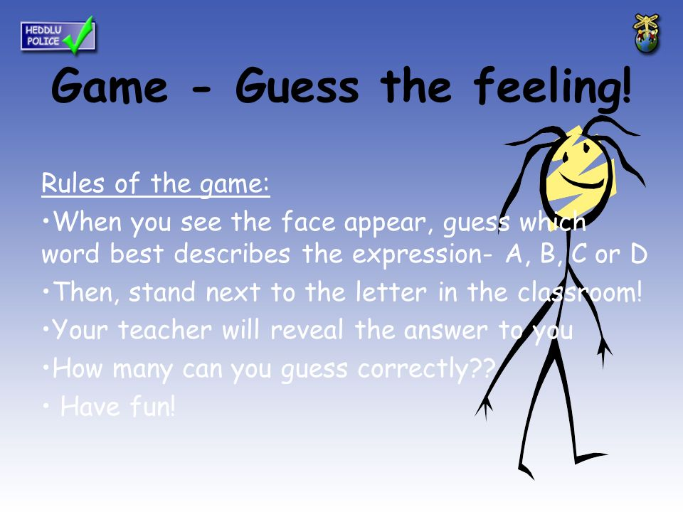 meet competitive price exquisite design Game - Guess the feeling! Rules of the game: When you see ...