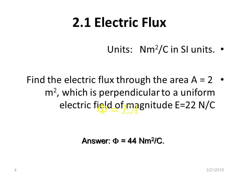 3/21/20161 ELECTRICITY AND MAGNETISM Phy 220 Chapter2