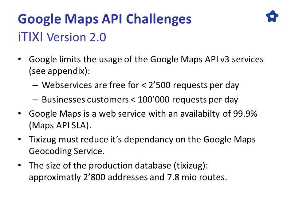 ITIXI Version 2 0 The Google Maps Challenge Google Maps API v3