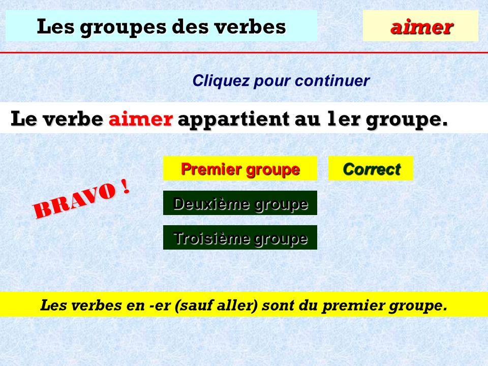 Test Quiz Grammaire Conjugaisons Les Groupes Des Verbes A Quel Groupe Appartient Le Verbe Aimer Premier Groupe Premier Groupeaimer Deuxieme Groupe Ppt Download