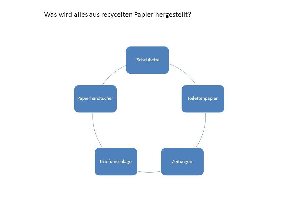 Wie wird papier hergestellt