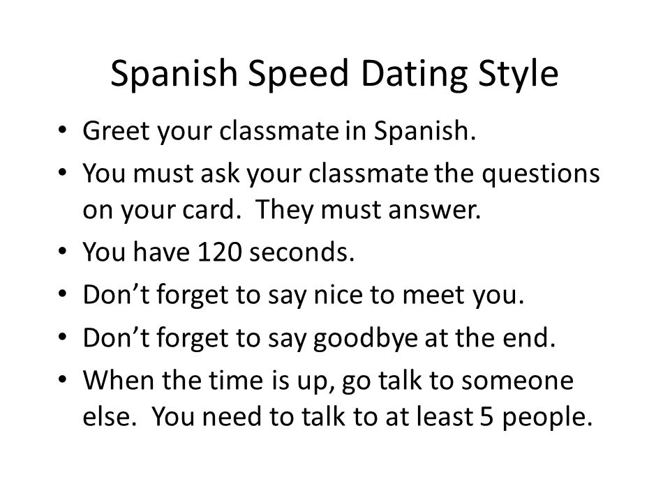 How do you say dating in spanish