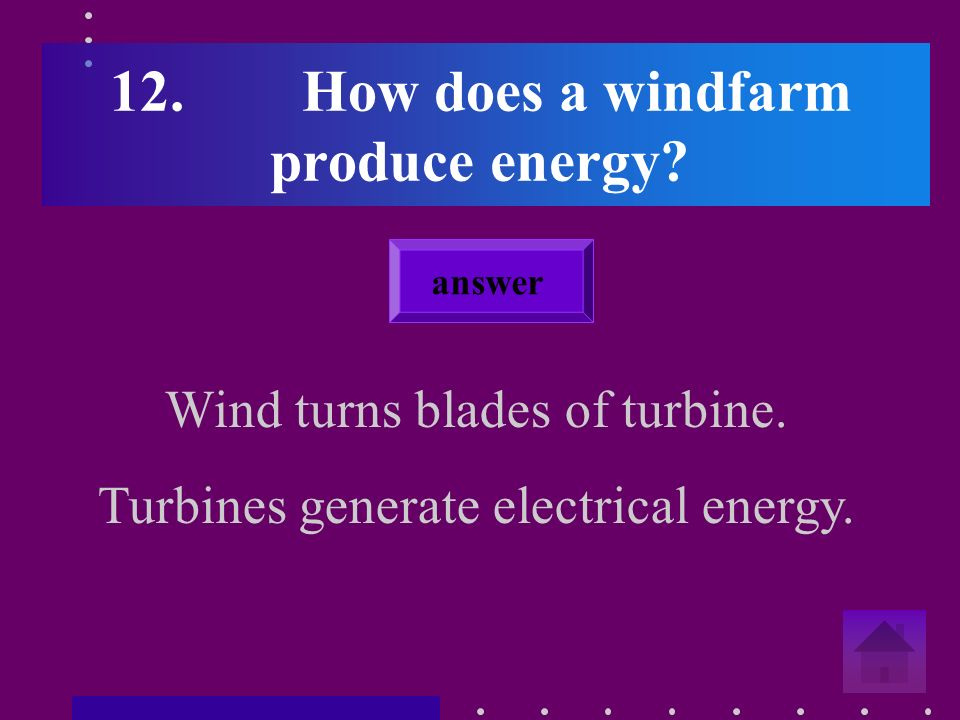 11.Give an environmental impact of wind turbines. e.g.