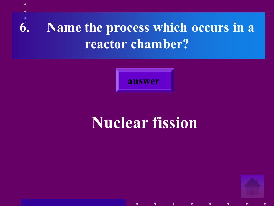 5.Which element is used as a fuel in a nuclear power station Uranium answer