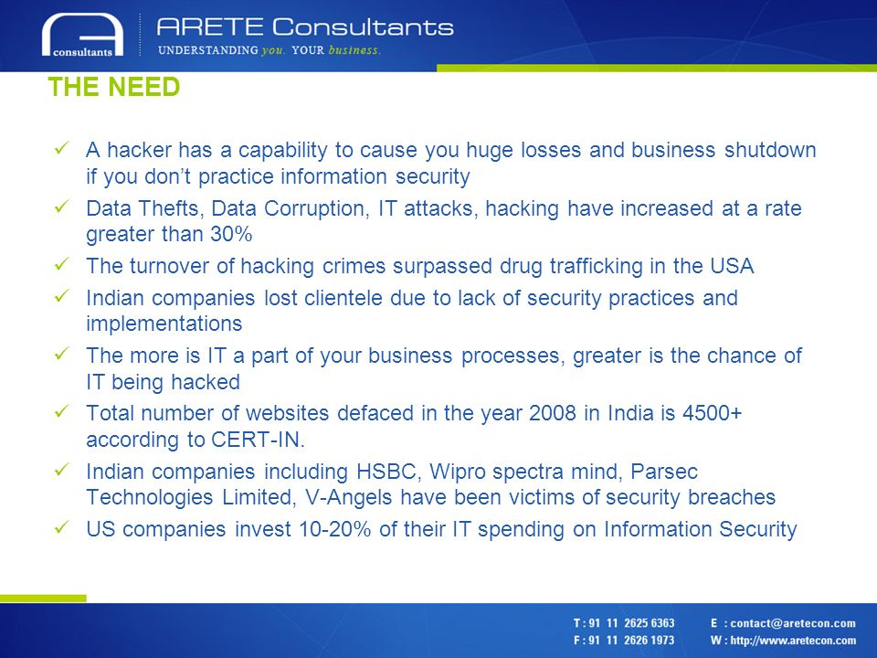 ABOUT US Arete Consultants Pvt Ltd is a Solution Provider