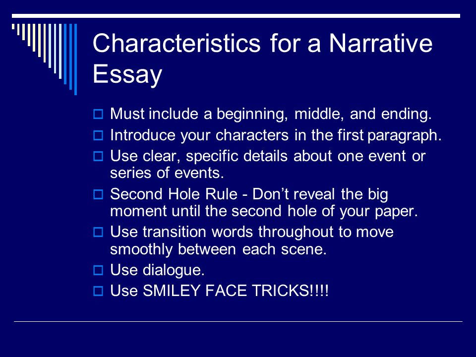 "beginning a narrative essay Updated, march 2, 2017 | we published an updated version of this list, ""650 prompts for narrative and personal writing,"" as well as a companion piece, ""401 prompts for argumentative writing"" every school day since 2009 we've asked students a."
