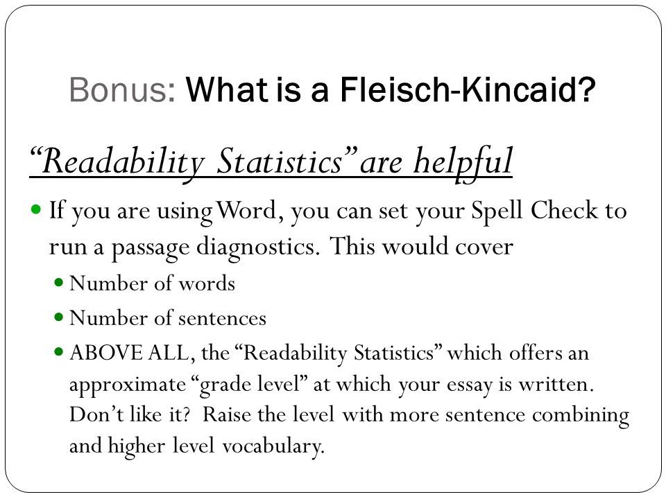 essay grade level checker
