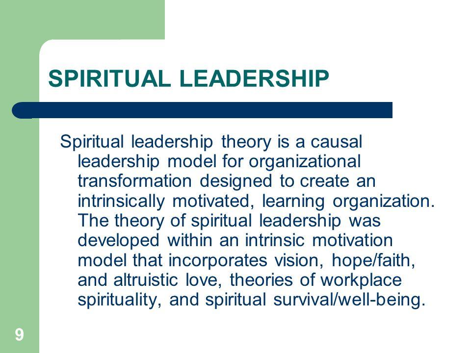 SPIRITUAL LEADERSHIP THEORY EPUB