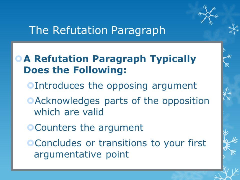 refutation paragraph argumentative essay