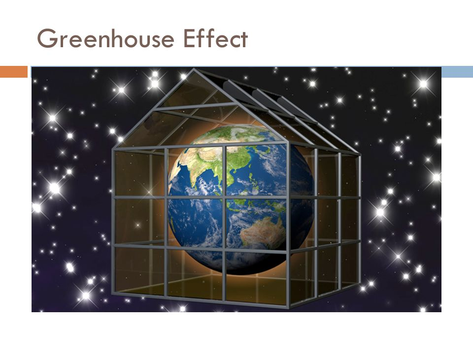 The Greenhouse Effect  In a greenhouse, the glass allows short wavelength radiation to enter,  but does not let long wavelength (infrared) radiation to escape.