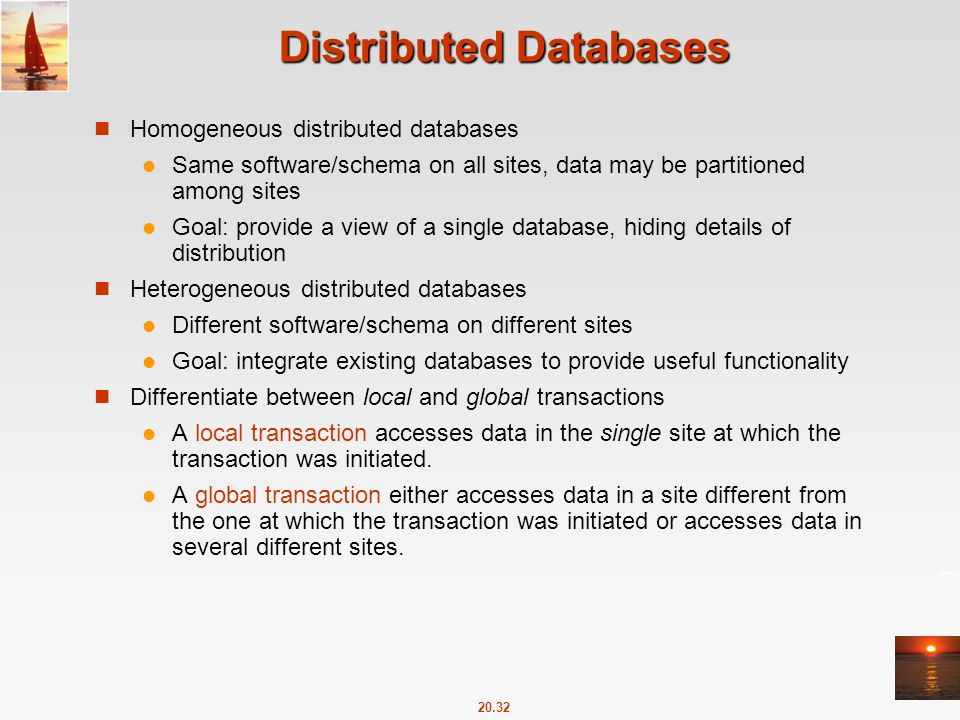 Chapter 20: Database System Architectures Chapter 20: Database ...