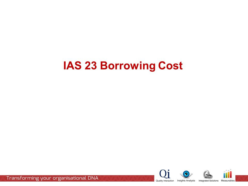 IAS 23 Borrowing Cost