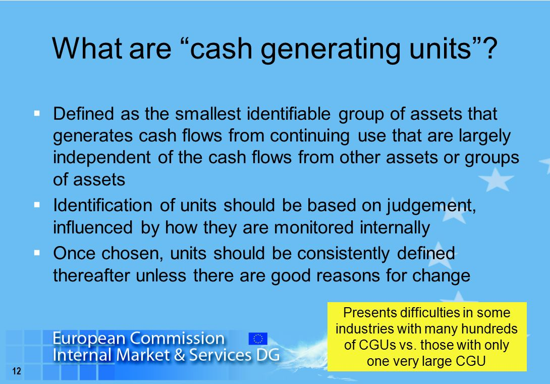 12 What are cash generating units .