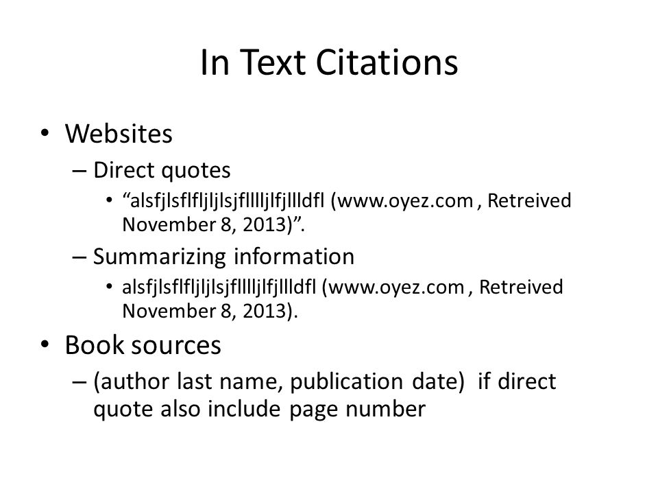 How to cite in text citations apa style 6 th edition ppt download in text citations websites direct quotes alsfjlsflfljljlsjflllljlfjllldfl oyez retreived ccuart
