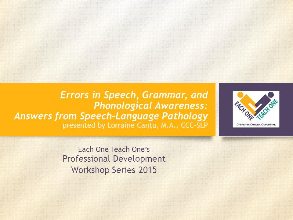 speech on each one teach one